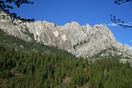 Castle Crags near Burstarse Falls. Photo by John Soares.