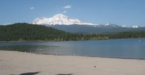 First swim in lake siskiyou in 2011 for Lake siskiyou resort cabins