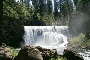 Middle McCloud Falls, photo from USFS