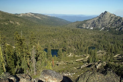 Seven Lakes Basin from the Pacific Crest Trail