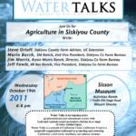 Water Talks: Agriculture in Siskiyou County, October 19, 2011
