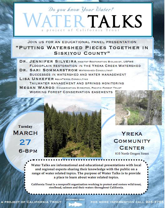 Siskiyou County Watershed Water Talks