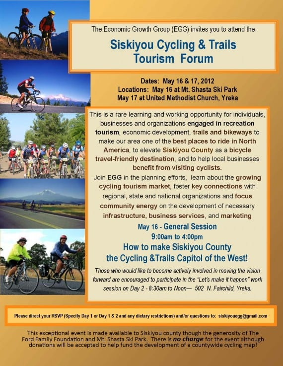 Siskiyou Cycling and Trails Tourism Forum