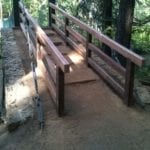 New Railings on River Trail Bridge at Castle Crags State Park