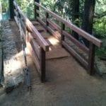 New Railings on River Trail Bridge at Castle Crags State Park