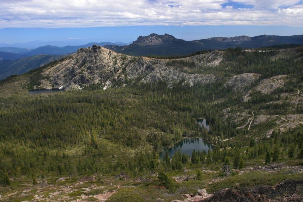 Seven Lakes Basin Below Many Lakes Mountain - hikemtshasta.com
