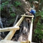 SECOND BRIDGE AT BOX CANYON TRAIL COMPLETED