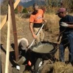 JOINT EFFORT WITH SISKIYOU LAND TRUST TO BUILD A FENCE AROUND THEIR GARDEN